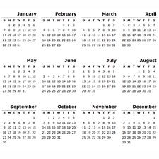 year calendar image